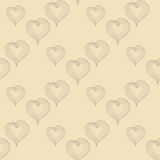 Abstract Hearts on a beige background Royalty Free Stock Photos