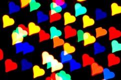 Abstract hearts Royalty Free Stock Photos