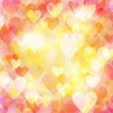 Abstract hearts bokeh background. Abstract hearts bokeh bright background Stock Photos