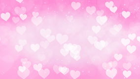 Abstract Hearts Bokeh Background. stock video