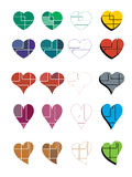 Abstract hearts collection Stock Photo