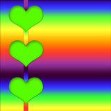 Abstract Hearts Colorful Background Royalty Free Stock Image
