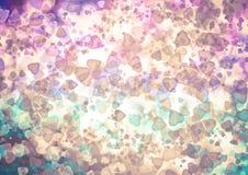 Abstract hearts colorful bokeh wallpaper Royalty Free Stock Image
