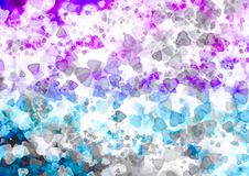 Abstract hearts colorful bokeh wallpaper Stock Image