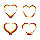 Abstract hearts. With the colors of the German flag Stock Photo