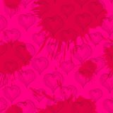 Abstract Hearts on a crimson background Royalty Free Stock Images