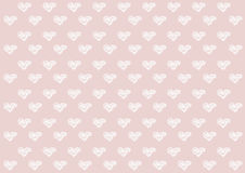 Abstract hearts drawing style illustration white on pink background | pattern creative design. Royalty Free Stock Photo