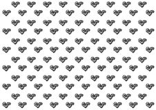 Abstract hearts drawing style illustration white on pink background | pattern creative design. Stock Image