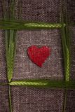 Abstract hearts and ears of corn Stock Image