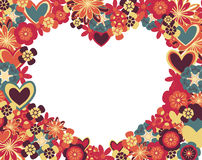 Abstract hearts and flowers. Abstract frame with hearts and flowers Stock Image