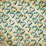 Abstract hearts. On grunge background Stock Image
