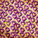 Abstract hearts. On grunge background Royalty Free Stock Images