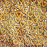 Abstract hearts. On grunge background Royalty Free Stock Image
