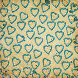 Abstract hearts. On grunge background Stock Photos