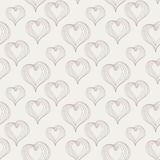 Abstract Hearts on a light background Stock Photography