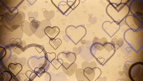 Abstract Hearts on a light brown vintage stock video
