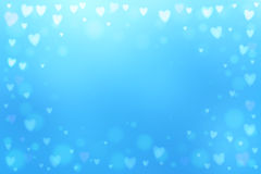 Abstract hearts lights background Royalty Free Stock Photo