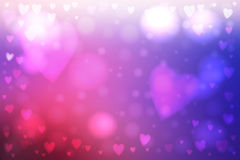 Abstract hearts lights background Royalty Free Stock Photos