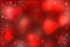 Abstract hearts lights background Stock Image