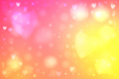 Abstract hearts lights background Stock Photo