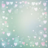 Abstract hearts lights background Stock Images