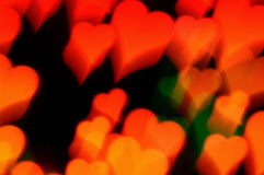 Abstract hearts motion blur Royalty Free Stock Image