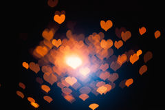 Abstract hearts particles Royalty Free Stock Photos