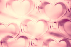 Abstract Hearts Pattern Background in Pink - pastel and vintage.  Stock Image