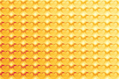 Abstract Hearts Pattern Background in yellow - pastel and vintag Stock Images