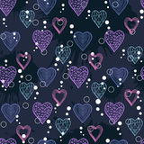 Abstract Hearts pattern Royalty Free Stock Photos