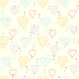 Abstract Hearts pattern Royalty Free Stock Images