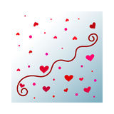 Abstract hearts royalty free illustration