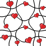 Abstract hearts seamless  Stock Photography