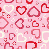 Abstract hearts seamless background. Stock Photography