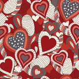 Abstract hearts. Seamless pattern with abstract hearts for background. Illustration, vector Stock Photo