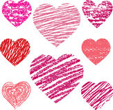 Abstract  hearts set Royalty Free Stock Photography