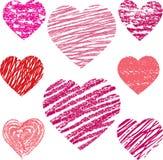 Abstract  hearts set Royalty Free Stock Photography