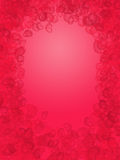 Abstract hearts shape in red background Royalty Free Stock Photos