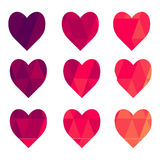 Abstract hearts of triangles Royalty Free Stock Image