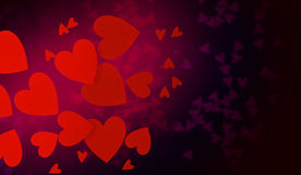 Abstract hearts Stock Photography