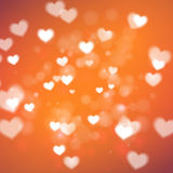 Abstract Hearts for Valentines Day on orange background. Eps10 Royalty Free Stock Photo