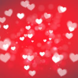 Abstract Hearts for Valentines Day on red background. Eps10 Stock Photos