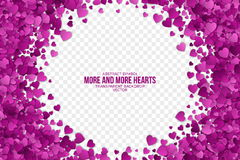 Abstract Hearts Vector Background Stock Images