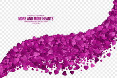 Abstract Hearts Vector Background Royalty Free Stock Photography