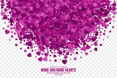 Abstract Hearts Vector Background Royalty Free Stock Images