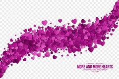 Abstract Hearts Vector Background Royalty Free Stock Photo
