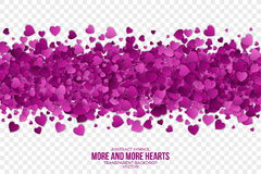 Abstract Hearts Vector Background Stock Image