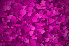 Abstract Hearts Vector Background. Abstract Purple, Violet and Lilac Textured 3d Hearts Vector Background. Valentine`s Day illustration royalty free illustration
