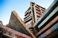 Abstract heavy metallic constructions Stock Photo