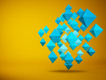 Abstract of hedra 3d rendering Stock Photo